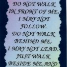 2057 Refrigerator Magnet Signs Friendship Do Not Walk In Front Of Me I Will Not