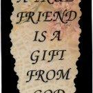 2027 Refrigerator Magnet Sign True Friend Gift from God Friendship Inspirational