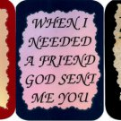 3 Friendship Refrigerator Magnets Signs Inspirational Comic Funny Love Friend #4