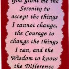 1029 Refrigerator Magnet Signs Serenity Prayer Inspirational Gifts 12 Step