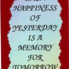 1060 Each happiness of yesterday memory Refrigerator Magnets Heartwarming Gifts