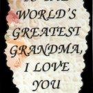2012 World's greatest Grandma Inspirational Refrigerator Magnet Kitchen Fridge Decor