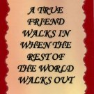 1111 A true friend walks in when the rest walks out Refrigerator Magnet Friendship Gifts