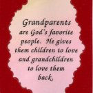 2032 Grandparents are God's favorite people Refrigerator Magnet Heartwarming Gifts