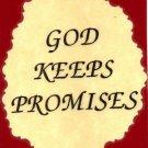 1014 God Keeps Promises Inspirational Refrigerator Magnets Kitchen Fridge Decoration
