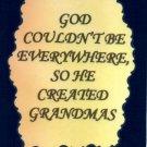 1115 God created Grandmas Inspirational Grandmother Gifts Refrigerator Magnet
