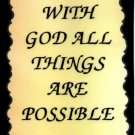 1002 With God All Things Are Possible Inspirational Saying Refrigerator Magnet