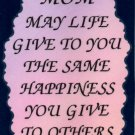 2014 Mom may life give Mother Inspirational Refrigerator Magnet Heartwarming Gift