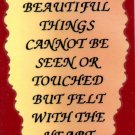 1006 The Most Beautiful Things Cannot Be Seen Refrigerator Magnets Inspirational