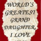 2041 World's Greatest Granddaughter Refrigerator Magnet Kitchen Fridge Decor