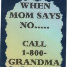 3239 When Mom Says No Call Grandma Refrigerator Magnets Fridge Decoration Gifts