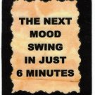3267 Next Mood Swing In Just 6 Seconds Refrigerator Magnet Funny Wife Girlfriend Gift