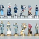 Pewter Civil War Chess Set