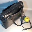 Hartmann Black Leather Tote Bag w/Shoulder Strap & 2 Outside Full Pockets