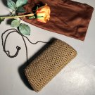 Moyna Couture Vintage Clutch Evening Bag w/500 Prongset Amber Rhinestones Encircled In Gold