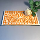 Italian Florentine Pietra Dura Plaque Or Cutting Board w/Inlaid Marble Cut And Polished