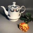 Nova Scotia Tartan Teapot Rosina China Co.Queens (Royal Albert Pattern Style) Fluted On Pedestal