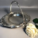 Vanbergh Bride's Footed Basket Quadruple Silver Plate w/Chased Silver & Engravings