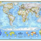 World Map By National Geographic 43x30 Laminated