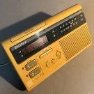 c1960 Sony Dream Machine Clock Radio w/Dual Alarm ICF-C220W Digital Display Rare Mustard Color MCM