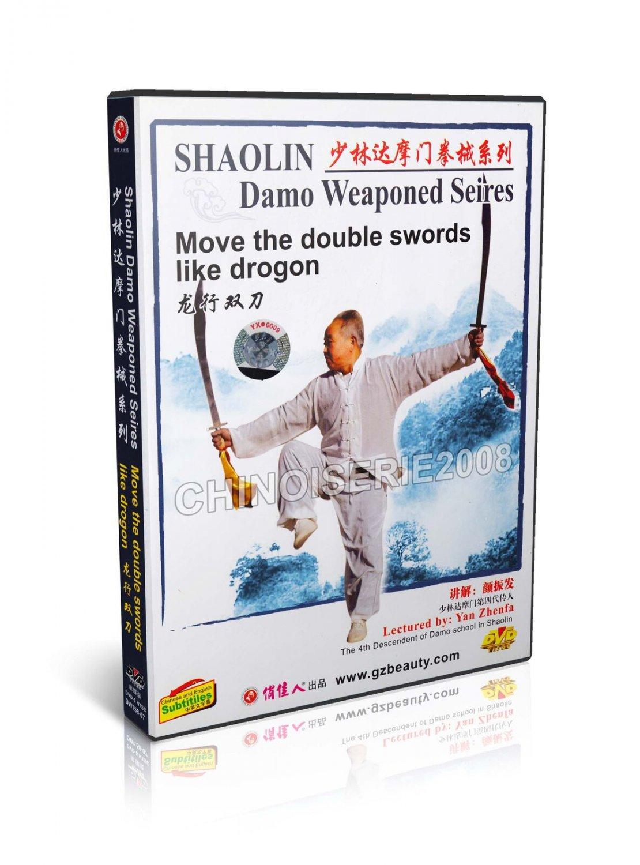 Shao Lin Damo Weaponed Series Dragon-shaped Double Sword Skill by Yan Zhenfa DVD