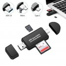 3 in 1 for OTG Card Reader Type C USB Micro USB Combo to 2 Slot TF SD Card