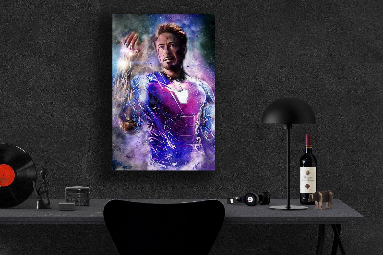 Avengers Endgame, Iron Man, Tony Stark, Robert Downey Jr, 13x19 inches Canvas Print