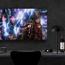 Avengers Endgame, Thor, Captain America, Iron Man, Tony Stark, 18x28 inches Canvas Print