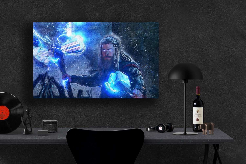 Avengers Endgame, Thor, Viking Thor, Chris Hemsworth, 18x24 inches Poster Print