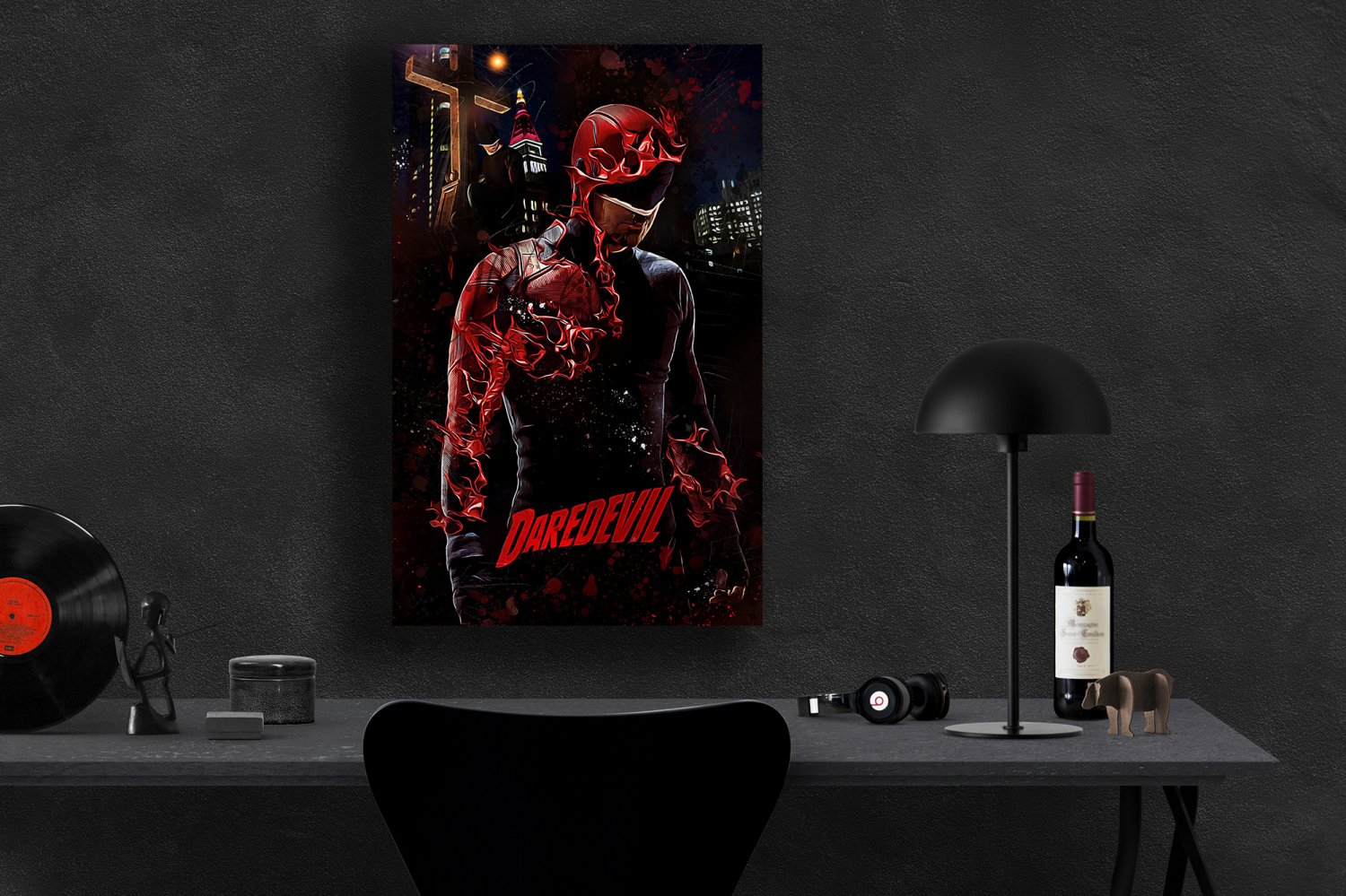 Daredevil, Charlie Cox, Matt Murdock  13x19 inches Canvas Print