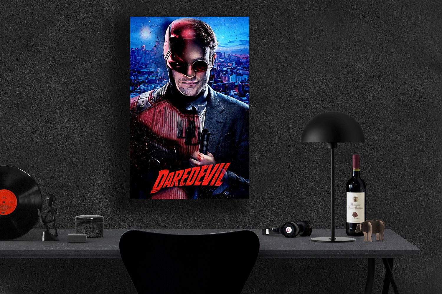 Daredevil, Charlie Cox, Matt Murdock  18x24 inches Canvas Print