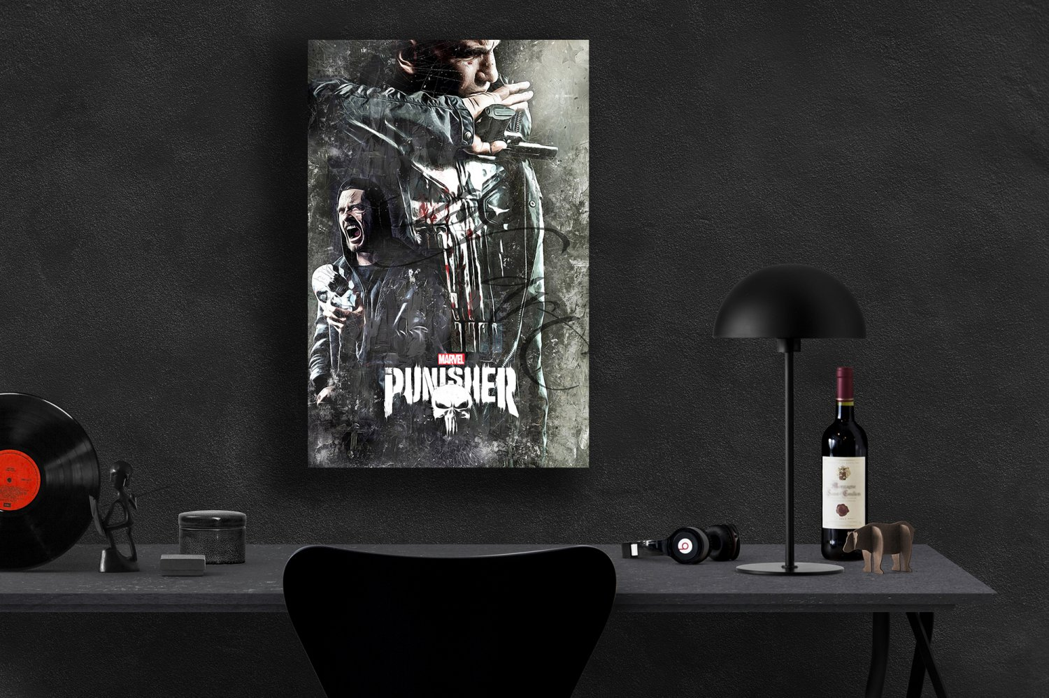 The Punisher, Frank Castle, Billy Russo, Jon Bernthal, Ben Barnes  18x28 inches Canvas Print
