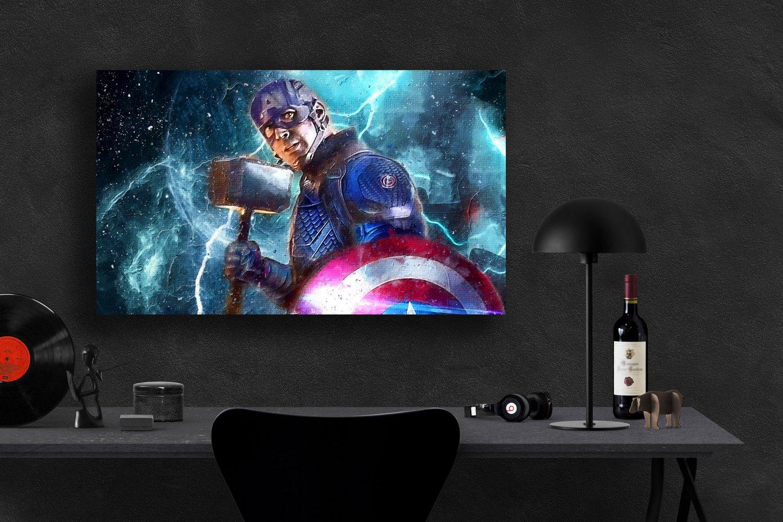 Captain America, Avengers Endgame, Chris Evans, Steve Rogers 13x19 inches Canvas Print