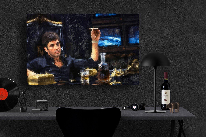 Scarface, Al Pacino, Tony Montana  13x19 inches Poster Print