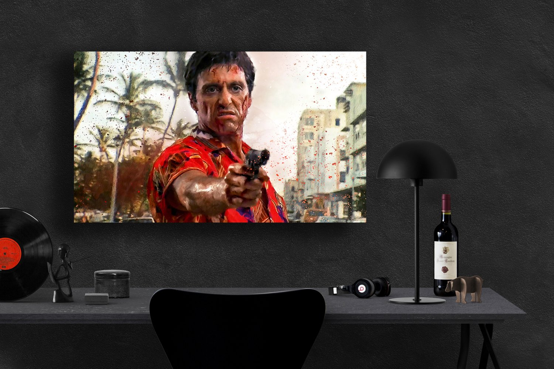 Scarface, Al Pacino, Tony Montana  18x24 inches Canvas Print