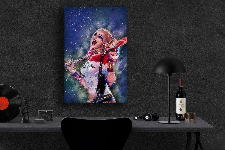 Harley Quinn, Margot Robbie, Birds of Prey   8x12 inches Canvas Print