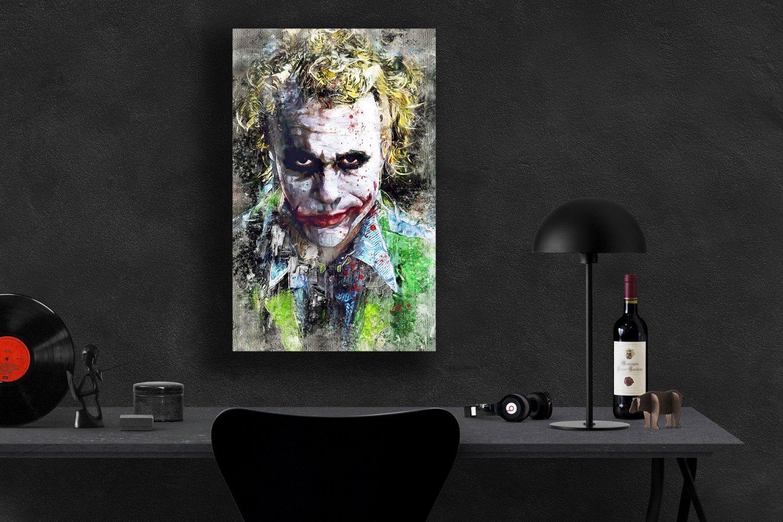 The Joker, Heath Ledger   24x35 inches Canvas Print