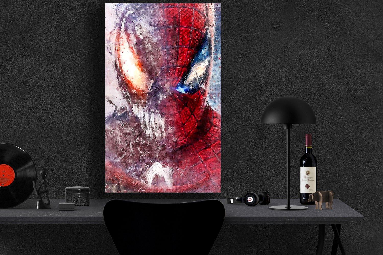 Spider-Man  Venom   8x12 inches Canvas Print