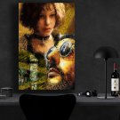Leon The Professional 1994 Jean Reno, Gary Oldman, Natalie Portman   13x19 inches Canvas Print