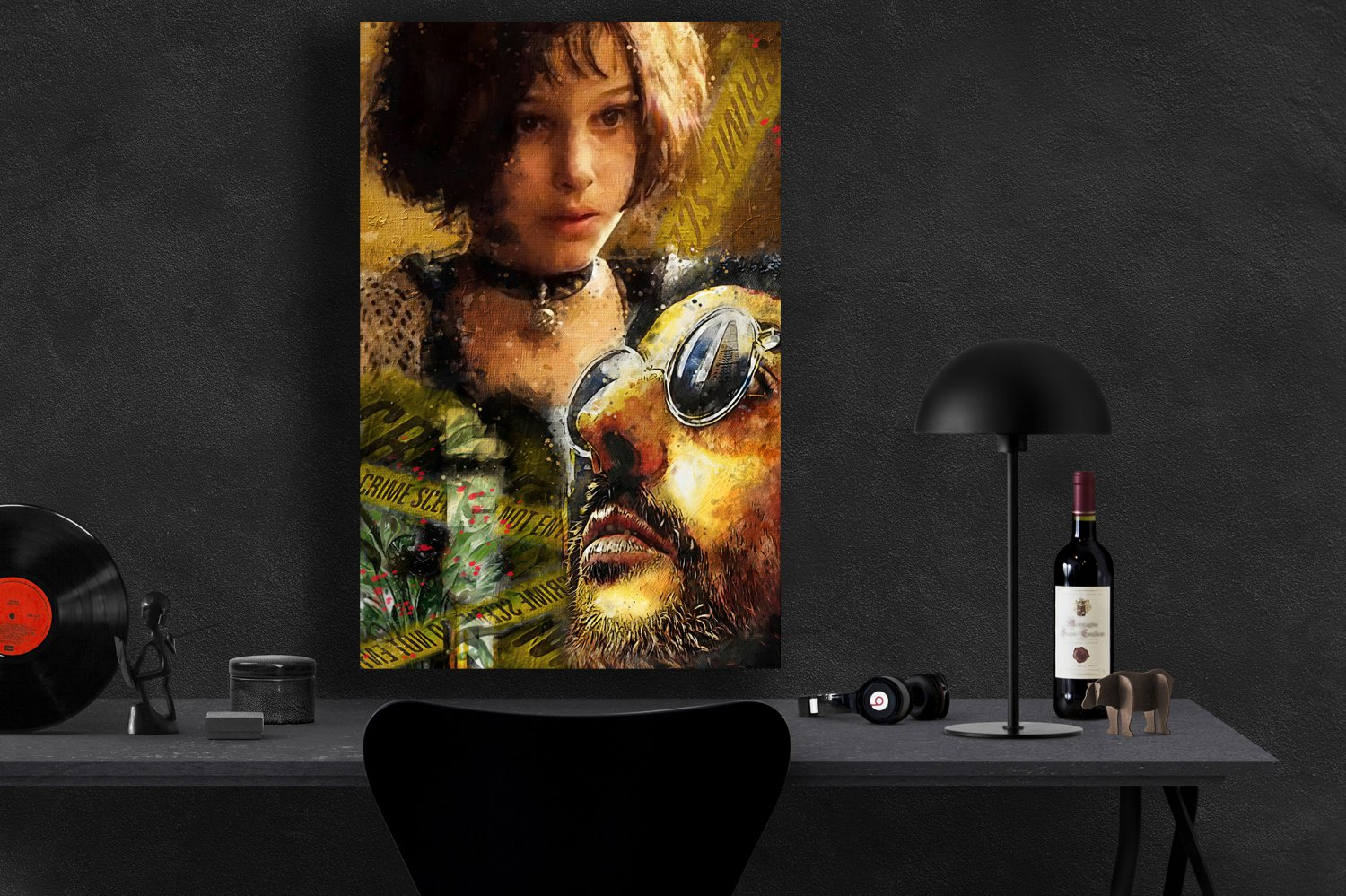 Leon The Professional 1994 Jean Reno, Gary Oldman, Natalie Portman  24x35 inches Canvas Print