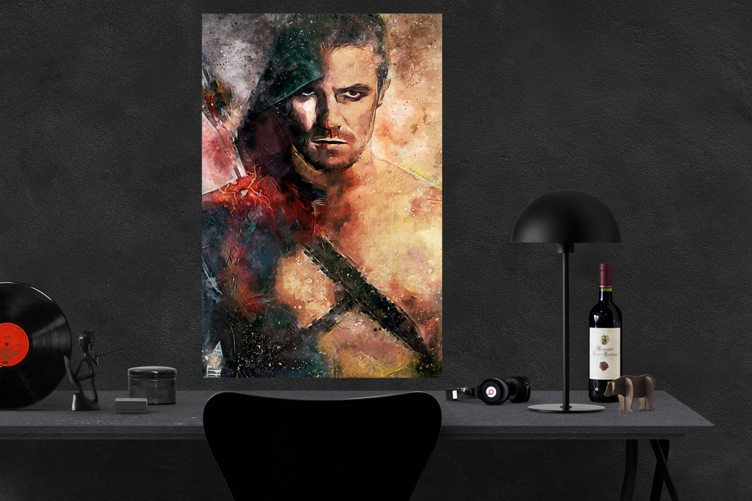 Arrow, Oliver Queen, The Green Arrow, Stephen Amell   18x28 inches Canvas Print