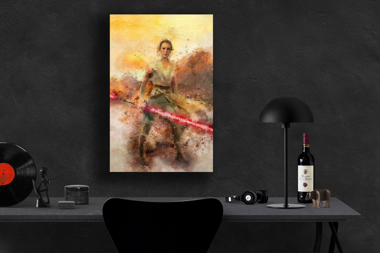 Star Wars, Rey, Daisy Ridley, The Rise of Skywalker  18x28 inches Canvas Print