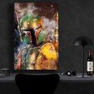 Boba Fett StarWars  8x12 inches Canvas Print