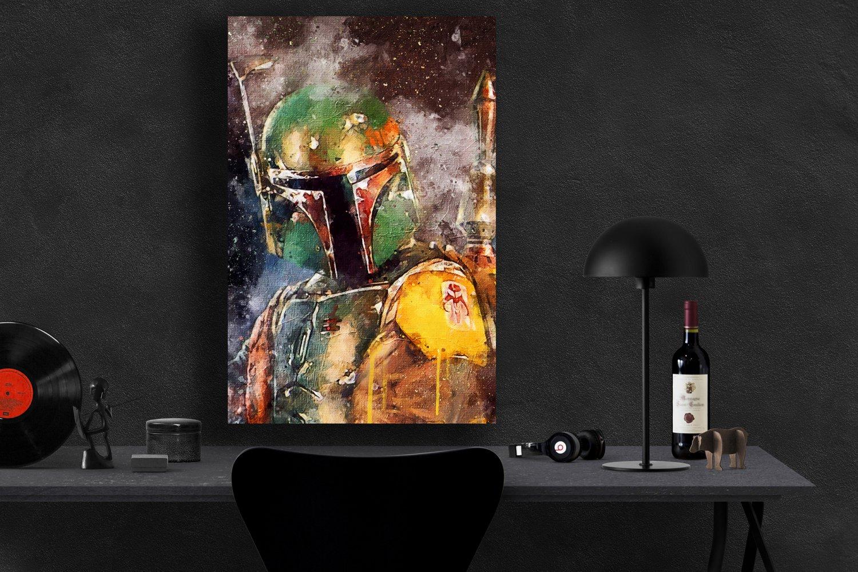 Boba Fett StarWars  18x28 inches Canvas Print