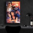 Pulp Fiction, John Travolta, Vincent Vega, Uma Thurman, Mia Wallace  8x12 inches Canvas Print