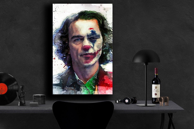 Joker Movie 2019 Joaquin Phoenix Arthur Fleck  24x35 inches Canvas Print