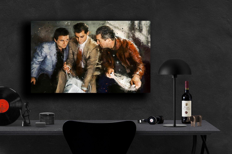 Goodfellas, Robert De Niro, Ray Liotta, Joe Pesci  13x19 inches Canvas Print