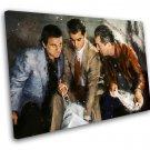 Goodfellas, Robert De Niro, Ray Liotta, Joe Pesci 14x20 inches Stretched Canvas