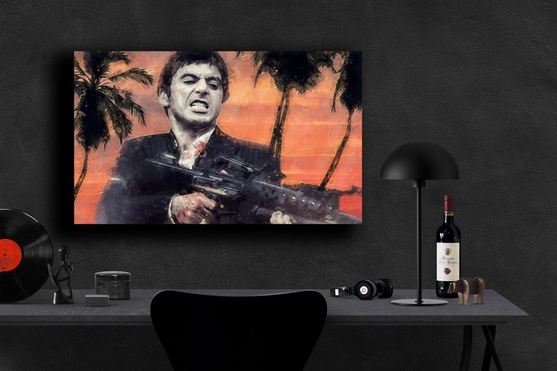 Scarface, Al Pacino, Tony Montana  8x12 inches Canvas Print