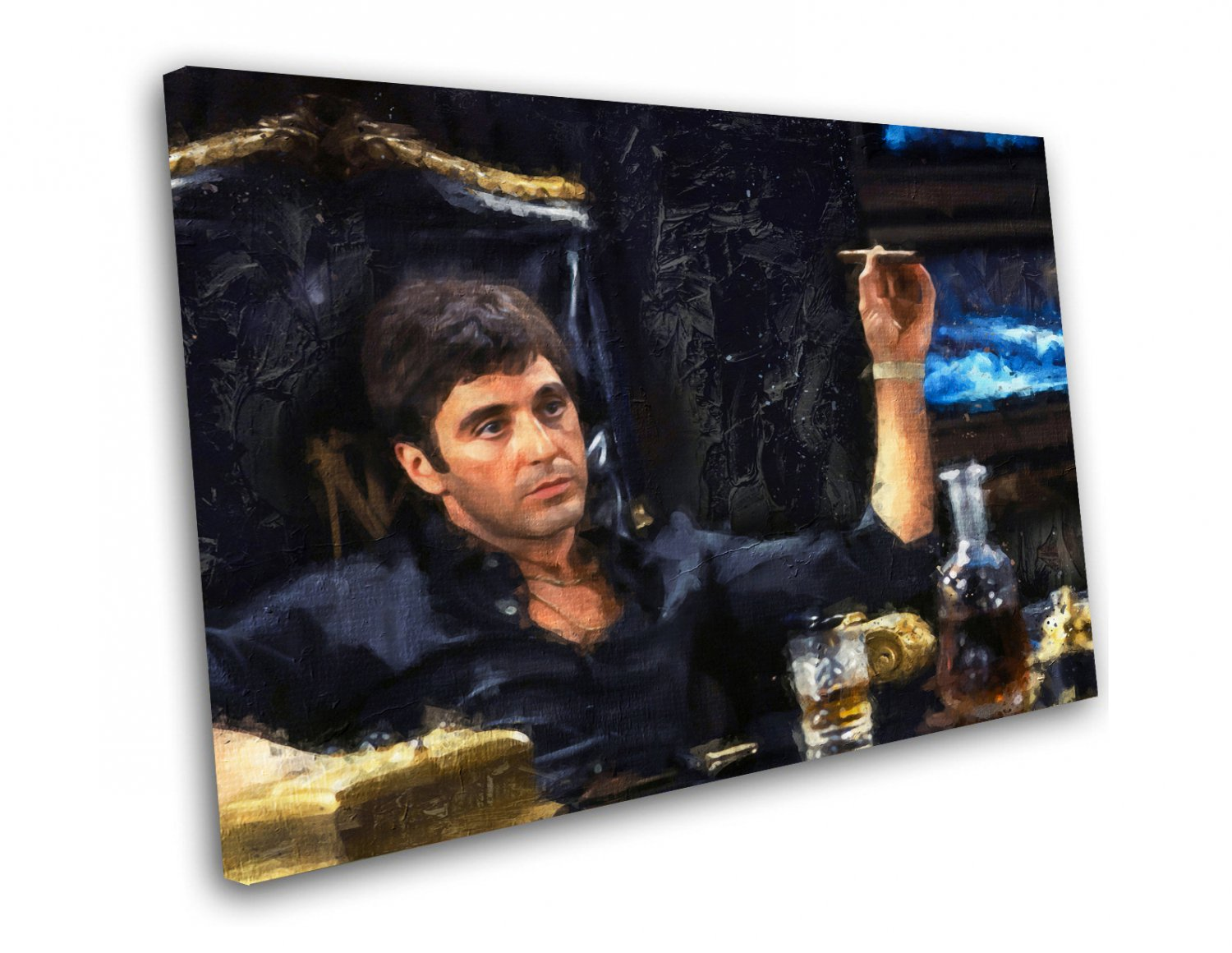 Scarface, Al Pacino, Tony Montana  10x14 inches Stretched Canvas